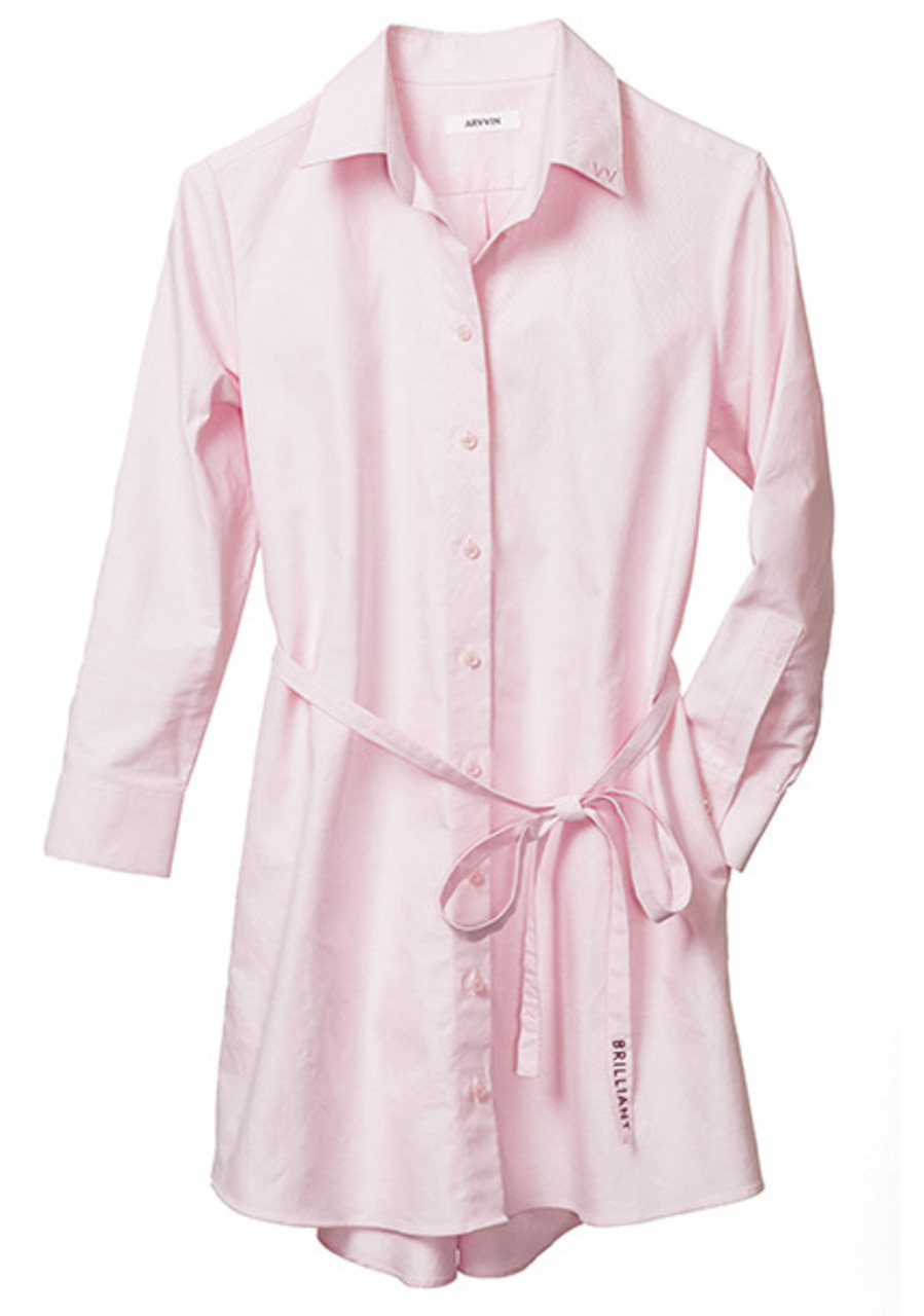pin point shirt dress (pink)