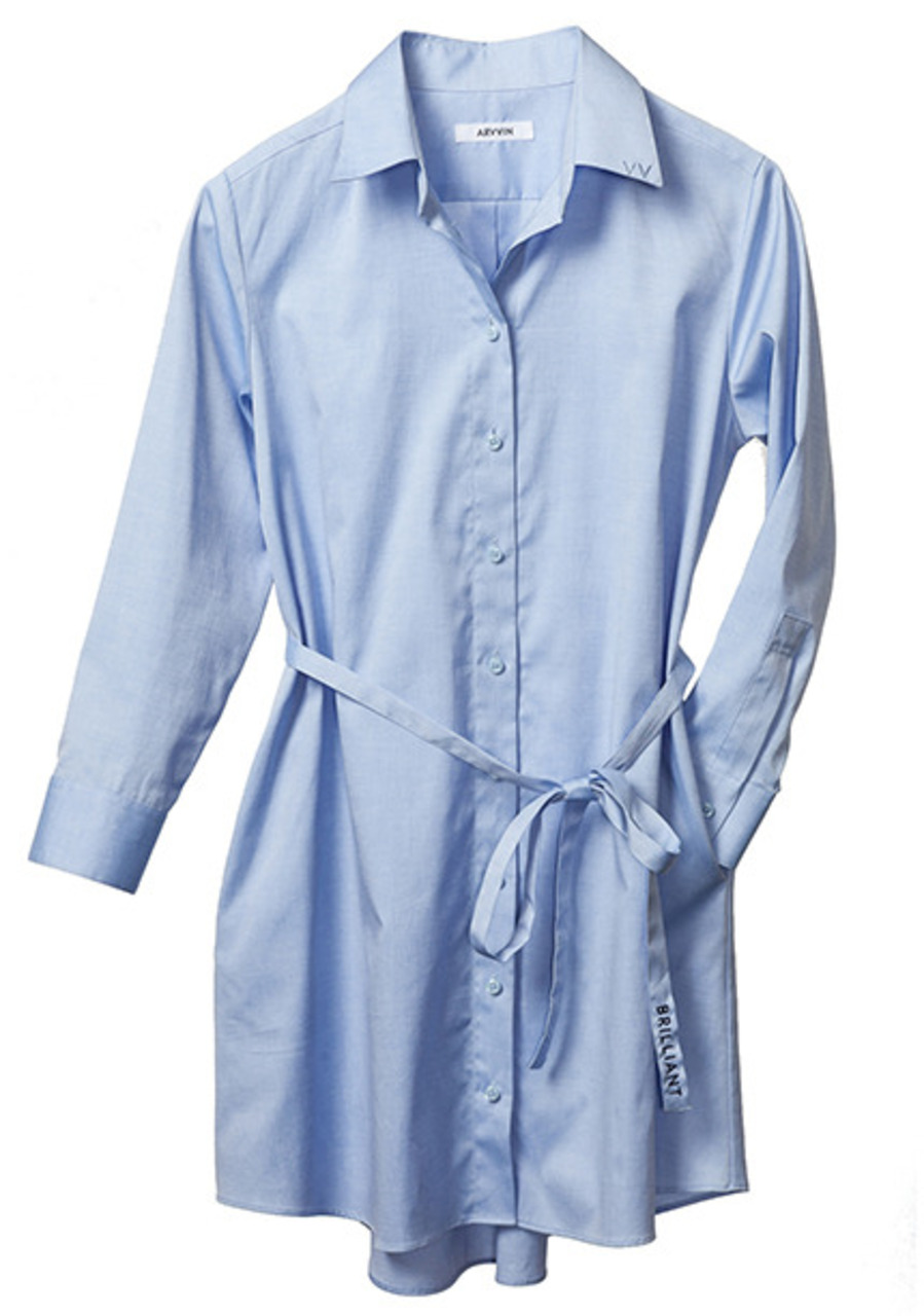pin point shirt dress (skyblue)