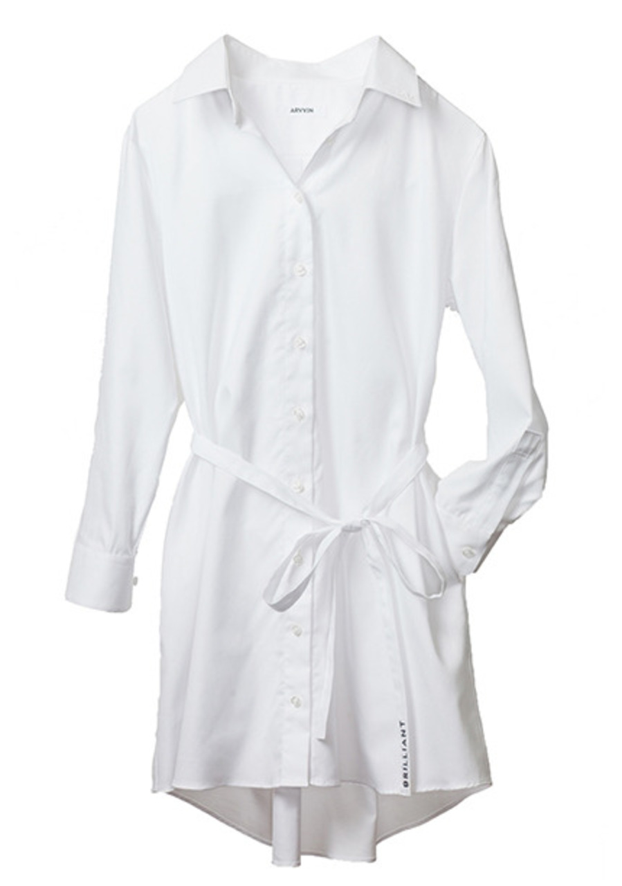 pin point shirt dress (white)
