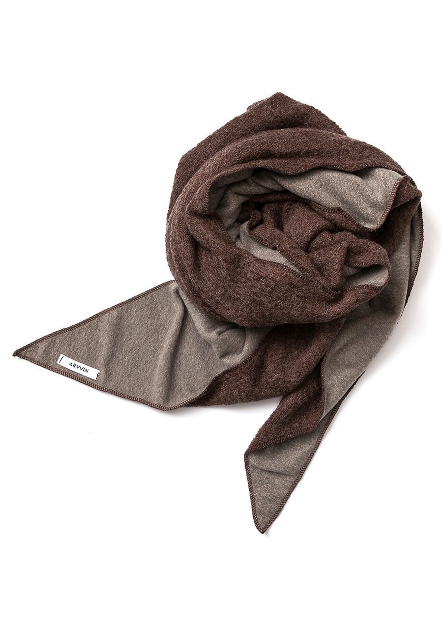 two-way reversible MUFFLER (brown)