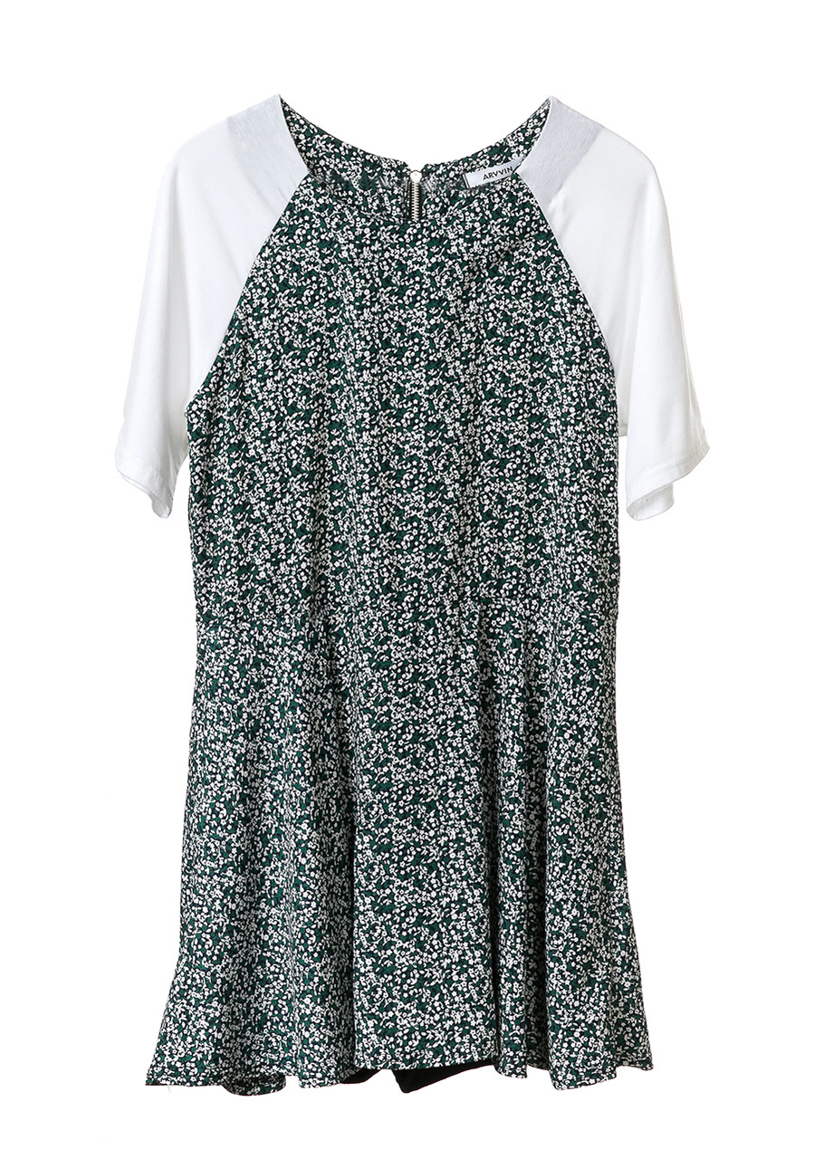 floweret jumpsuit dress (green)